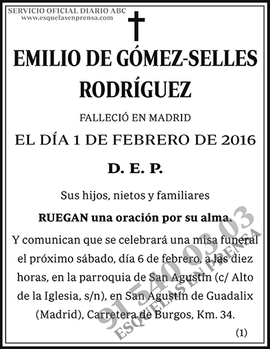 Emilio de Gómez-Selles Rodríguez